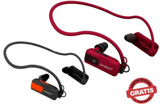Reproductor de MP3 de la marca Sunstech con capacidad de 4GB ¡Con almohadillas de diferentes tamaños!