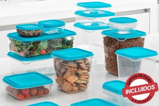 Lleva tu comida al trabajo de la manera más fácil con este set de 17 fantásticas fiambreras de varios tamaños ¡Muy prácticas!