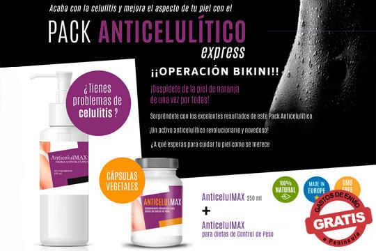 Despídete de la celulítis y presume de cuerpazo gracias a los packs Anticelulmax ¡La manera más natural de cuidarte!