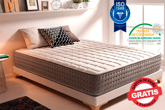 Ya es hora de cambiar tu viejo colchón por el nuevo Viscografeno Imperial Deluxe ¡Con acolchado especial y 100% antibacteriano!