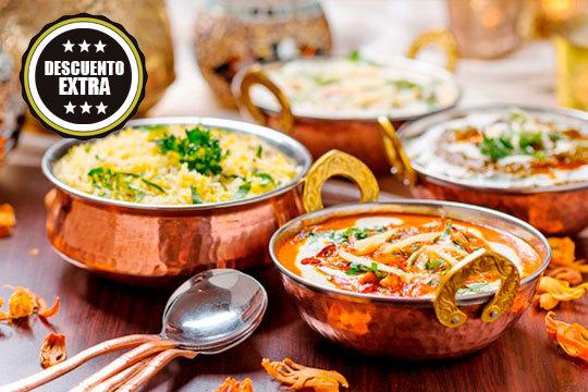 Menú de 4 platos a elegir en Bombay ¡Cocina de la India para sorprender!