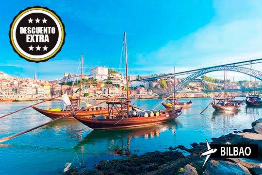 ¡Viaje para soprender a Oporto! Salida desde Bilbao y estancia de 3 noches en hotel