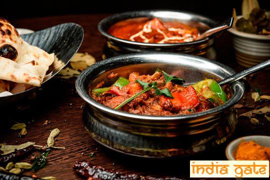 ¡Especial fiestas! Menú tradicional indio de 8 platos en India Gate