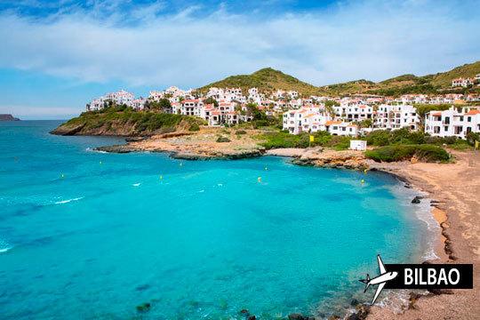 ¡Descubre la isla más bonita de las Baleares! 7 noches en régimen de media pensión y vuelo desde Bilbao a Menorca para unas vacaciones inolvidables