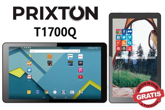 Tablet Quad Prixton T1700Q para navegar por internet, visitar redes sociales, jugar y mucho más ¡Posibilidad de incluir Micro SD para aumentar su capacidad!