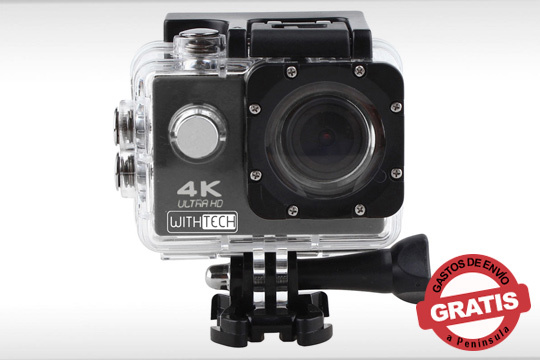 Con esta cámara podrás grabar los mejores momentos de tus viajes y aventuras ¡Con carcasa acuática y adaptador para bicicleta!