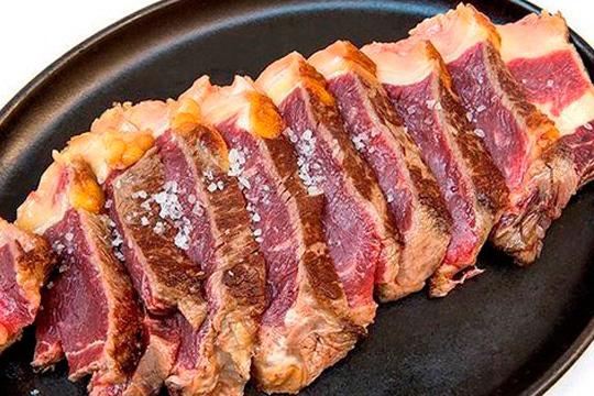 Completo menú de sidrería con carne y pescado (Ibarra)