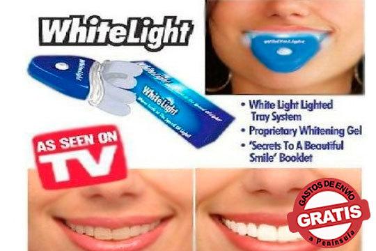 ¡Sonrisa de anuncio! El blanqueador dental White Light Smile es seguro, efectivo y rápido, no daña el esmalte de sus dientes