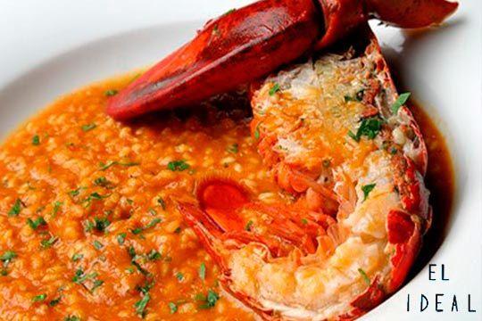 Menú con arroz marinero en el Restaurante El Ideal ¡Exquisito!