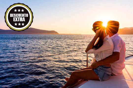 ¡Disfruta de un día diferente! Paseo en barco para dos personas con salida desde Orio, parada en Getaria, comida y cava