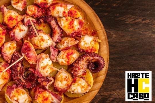 Menú especial con pulpo, Ibéricos, gambones y txuletón ¡Hazte Caso!