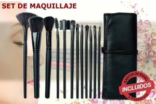 Aprovecha la oferta de 1 o 2 sets profesionales de brochas para maquillaje con diseño portátil ¡Incluye funda!