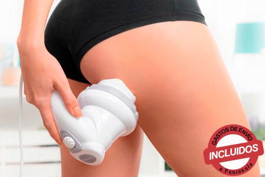 Elimina la grasa acumulada localizada mediante relajantes masajes por vibración ¡Con 5 accesorios multifunción!