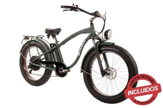"""Bicicleta eléctrica perfecta para pasear por el puerto o vías verdes, con ruedas de 26"""" y un diseño desenfadado que recuerdan el estilo crusier americano"""