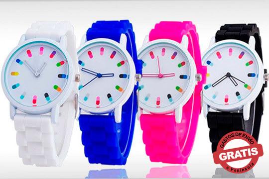 Reloj lexy con correa de silicona en negro, azul, rosa o blanco ¡Diseño minimalista para todos tu looks!