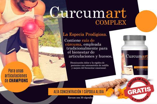 Alivia los dolores articulares y óseos gracias a Curcumart Complex, con raíz de cúrcuma ¡Articulaciones de un campeón!