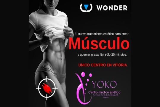Quema esa grasa de más y tonifica tus músculos con el nuevo tratamiento Wonder del centro YOKO ¡Atención personalizada!