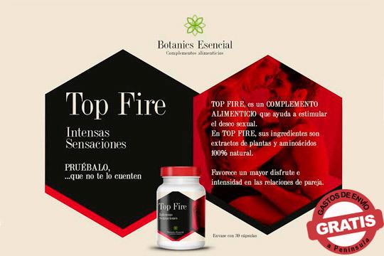 Disfruta de las relaciones de pareja con mayor intensidad gracias a Top Fire, de ingredientes 100% naturales