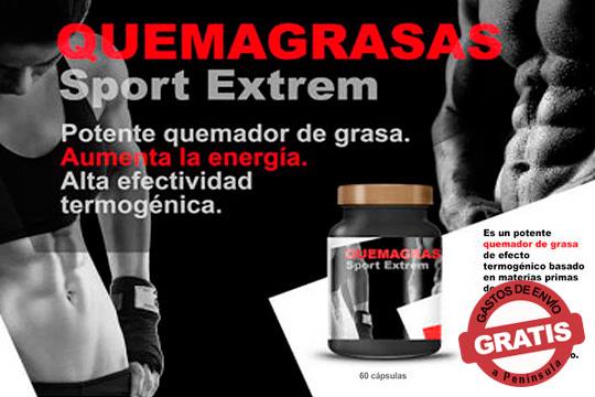 Presume de figura con el potente Quemagrasas Sport Extrem ¡Con L-Carnitina, guaraná, L-Tirosina, nuez de cola...!
