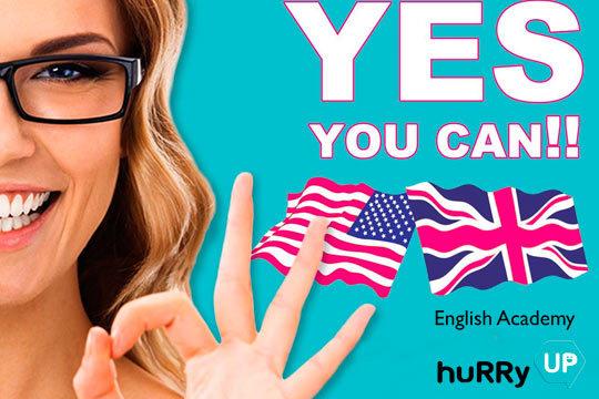 ¿Aún no hablas inglés? Pues corre y aprende por fin con este curso para adultos de un mes de duración en la academia de inglés Hurry Up ¡La mejor manera de aprender inglés!