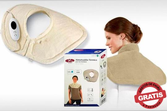 Alivia tus dolencias cervicales con la esterilla almohadilla térmica ¡Desmontable para una fácil limpieza!
