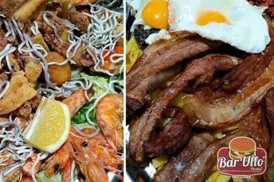 Delicioso menú con tabla de Mar o Tierra en el bar Ullo ¡Para dos personas y si quieres te lo llevan a casa!
