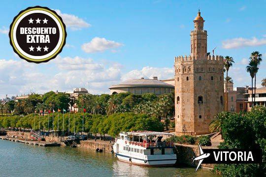 ¡Escápate a Sevilla! Vuelo desde Vitoria a la capital andaluza y 3 noches con desayuno a un precio muy especial