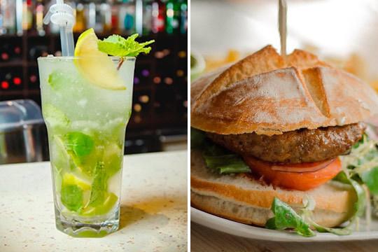 ¡Menú para 2! Nachos + hamburguesas + mojito en New Kingston