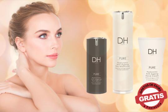 Presume de una piel más joven gracias a estos productos de Dr. H. ¡Incluye hidratante de día, crema de manos y suero de ojos!