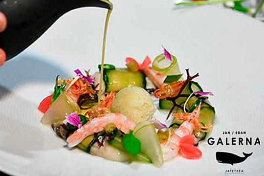 Exqusito menú degustación en 11 tiempos en Galerna Jan Edan