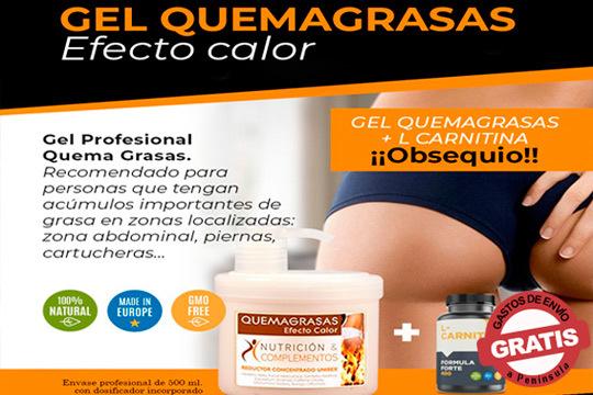 Despídete de la piel de naranja y elimina la grasa con el revolucionario Gel Profesional Quemagrasas Efecto Calor ¡Incluye cápsulas de regalo!