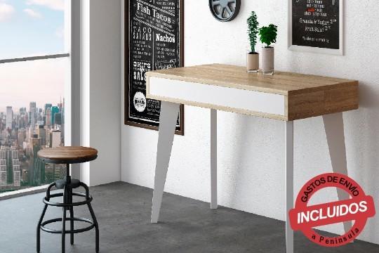 Utiliza la consola extensible como recibidor, escritorio de oficina o mesa de comedor ¡Con capacidad para 6, 10 o 14 personas!