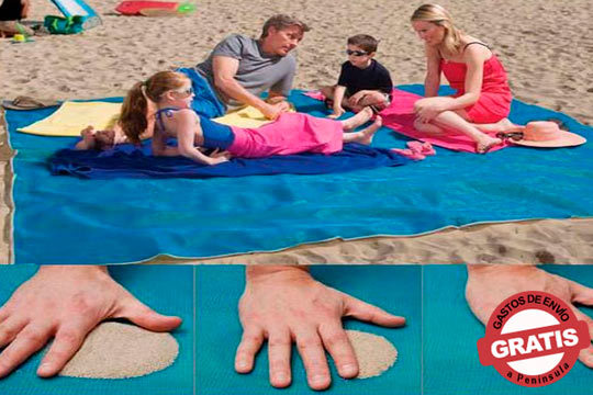 Mantén la arena fuera de tu toalla con esta esterilla anti-arena gigante ¡Perfecta para toda la familia!