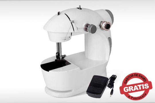 Arregla tu ropa y evita gastar de más con esta práctica máquina de coser ¡Viene pre-enhebrada y lista para usar!