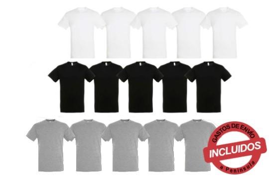 Elige entre 3. 5 ó 10 camisetas 100% algodón. Diseño unisex, de mangas cortas y cuello redondo ¡Aprovecha!