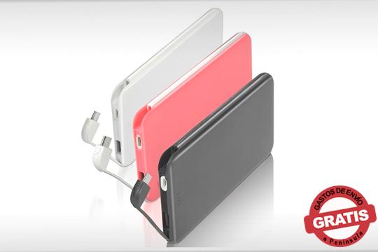 No te quedes nunca sin batería gracias a la Powerbank Superslim 6.000 MAH ¡Disponible en 3 colores!