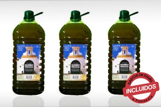 Aceite de Oliva Virgen Extra,de categoría superior ¡Obtenido directamente de aceitunas recolectadas de sus propias fincas en estado óptimo!