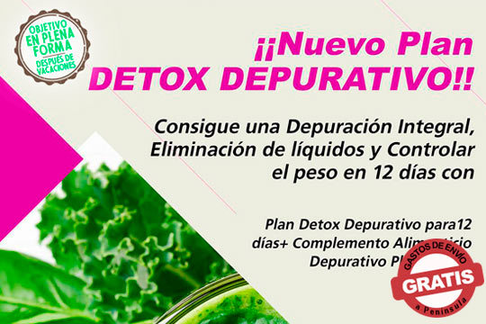 Detoxifica tu organismo con el Pack Depurativo Detox de 12 días ¡Elimina toxinas y grasa sin esfuerzo!