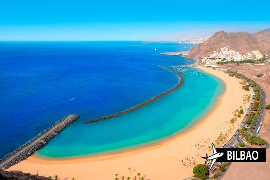 ¡Relájate en las playas de Tenerife este verano! 7 noches en un coqueto estudio + vuelo de Bilbao