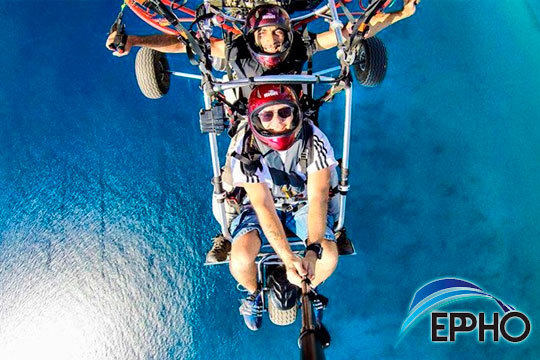¡Siéntete como un pájaro con el vuelo en paramotor sobre Almería! Tras una breve explicación sobre la maquinaria tus pies se elevarán del suelo para vivir una experiencia inolvidable