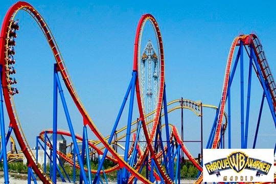 Disfruta de las mejores atracciones del Parque Warner con estas entradas de 1 o 2 días ¡Un plan trepidante!