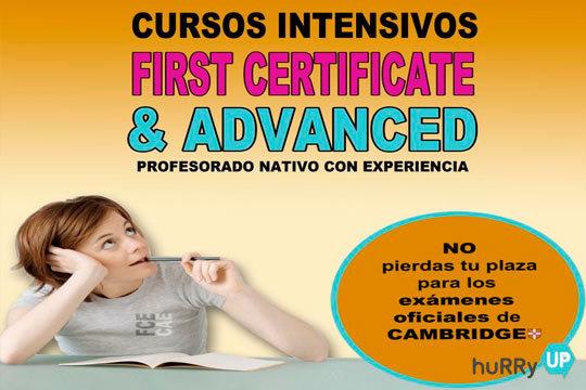 Pule tus conocimientos de inglés y prepara los certificados First y Advanced en la academia de inglés Hurry Up ¡Un curso intensivo pensado para adultos y adolescentes!