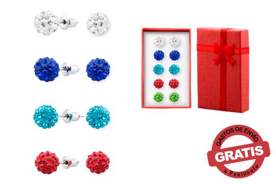 Dale color y luz a tu rostro con este pack de 5 pendientes Shambala ¡Incluye gastos de envío!