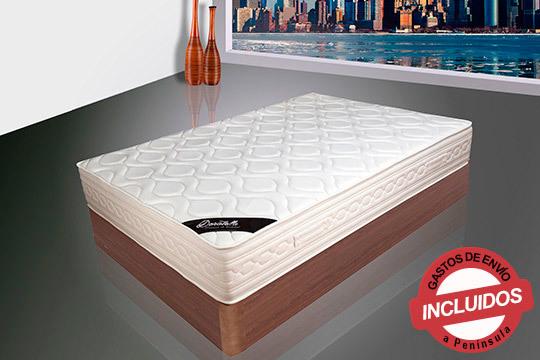 Descansa sobre un manto de visco muelles con el máximo confort y transpiración ¡Disponible en varias medidas y con un grosor de 27 cm!