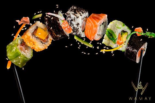 Menú sushi para dos: 36 piezas + postre + 2 bebidas (P. Deportivo)