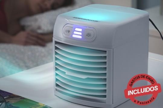Generar un ambiente agradable y limpio en tu hogar con el mini climatizador evaporativo portátil, incluye filtros extraibles, lavables y reutilizables ¡Añade aceites esenciales o hielo en su depósito para mayor sensación de frescor!