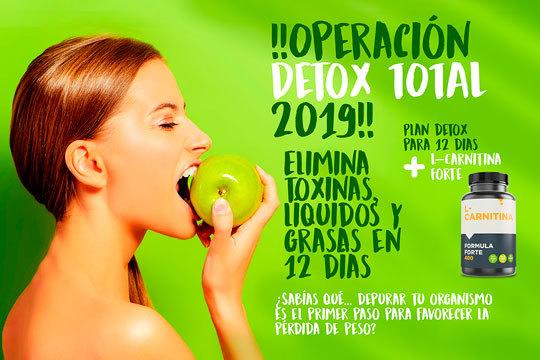 Elimina toxinas con este nuevo plan detox ¡Incluye L-Carnitina para que te sientas mejor!