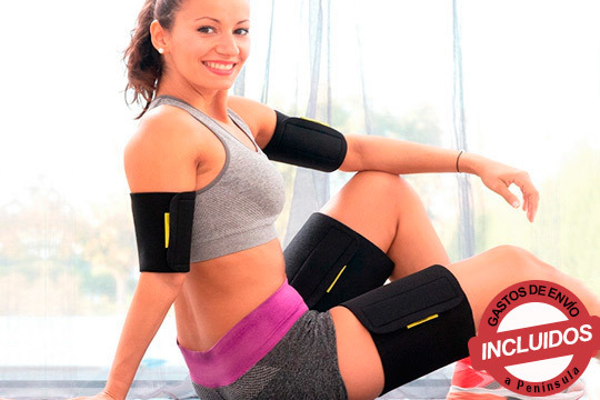 Intensifica los resultados del ejercicio mientras combates la flacidez de brazos y la celulitis de las piernas ¡Los recibirás cómodamente en tu casa!