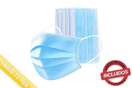 Protégete de alergias, virus, humo, bacterias y más con el pack de 20, 100 ó 500 mascarillas higiénicas ¡Cumplen con lanorma europea UNE 0064-1:2020!