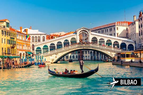 Disfruta de la maravillosa Venecia en un viaje de 3 noches con desayunos ¡Y vuelo desde Bilbao!